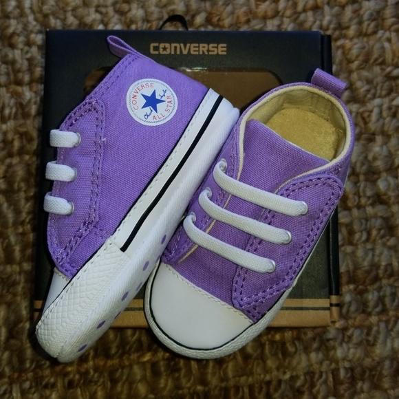 infant purple converse shoes - 52% OFF
